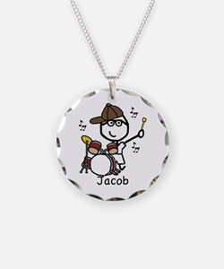 Drumset - Jacob Necklace Circle Charm
