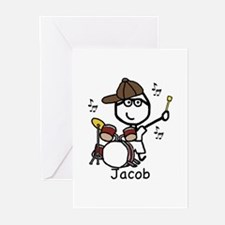Drumset - Jacob Greeting Cards (Pk of 10)