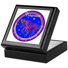 Taurus Zodiac Sign Keepsake Box