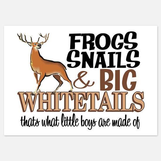 Big Whitetails - Little Boys Are Made Of Invitations
