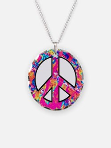 Unique Give peace chance Necklace