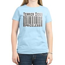Terrier Dogs Women's Pink T-Shirt