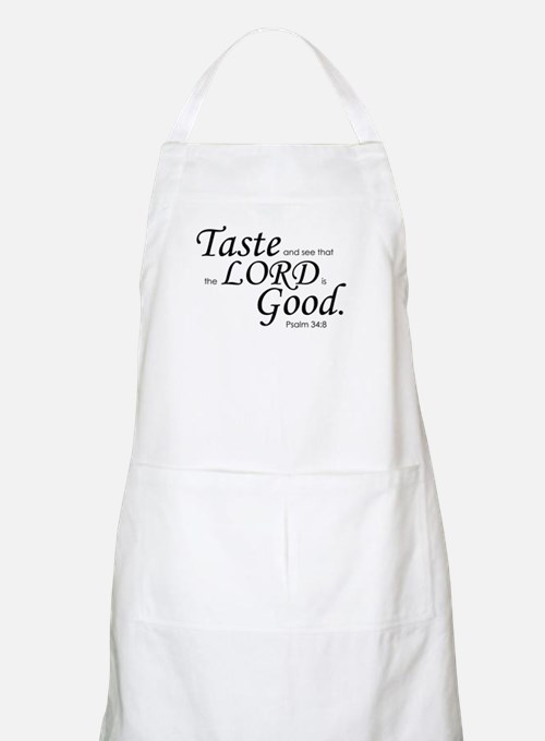 """""""Taste and See"""" BBQ Apron"""