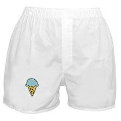 Cute Blue Ice Cream Cone Boxer Shorts