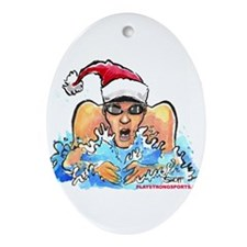 Cute Swim team Ornament (Oval)