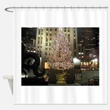 Christmas in the City Shower Curtain