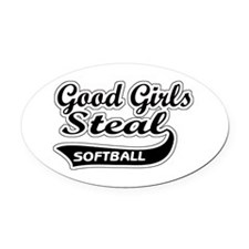 Good Girls Steal Oval Car Magnet