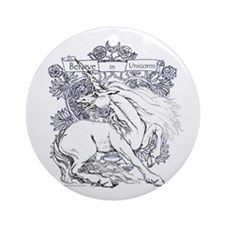 Believe in Unicorns Ornament (Round)