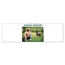 Real Men Rescue Animals Sticker (Bumper)