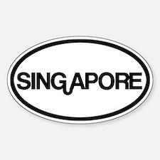 Singapore Sticker (Oval)