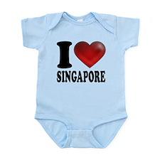 I Heart Singapore Infant Bodysuit