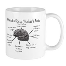 Atlas of a Social workers brain Mugs