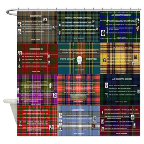 Great Scottish Inventions Collage Shower Curtain