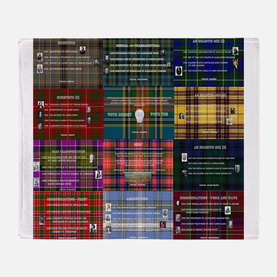 Great Scottish Inventions Collage Throw Blanket