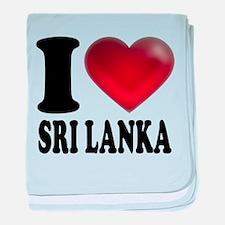 I Heart Sri Lanka baby blanket