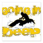 deepclock.png Square Car Magnet 3