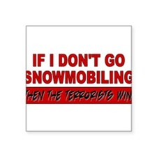 "Cute Winter sports Square Sticker 3"" x 3"""