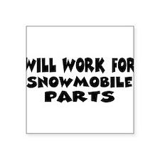 "worksnowpartsw.png Square Sticker 3"" x 3"""