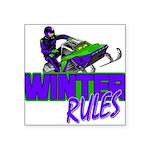 Winter Rules Square Sticker 3