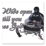 Wide Open Square Car Magnet 3