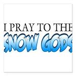 Snow Gods Square Car Magnet 3