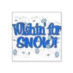 Wishin' For Snow Square Sticker 3