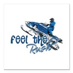 Feel The Rush Square Car Magnet 3
