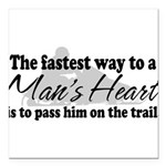 A Man's Heart Square Car Magnet 3