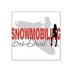 Snowmobiling Sno-Devil Square Sticker 3