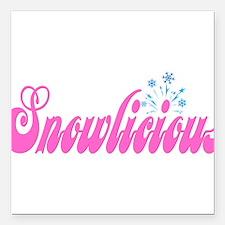 "Snowlicious Square Car Magnet 3"" x 3"""