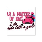 Ride Like a Girl - Snowmobi Square Sticker 3