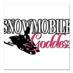 Snowmobile Goddess.png Square Car Magnet 3