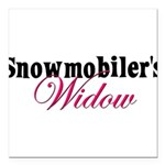 snowmobiwidow.png Square Car Magnet 3