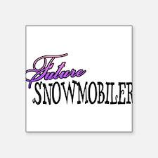 """future snowmobiler.png Square Sticker 3"""" x 3"""""""