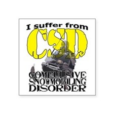 "CSD Compulsive Snowmobile D Square Sticker 3"" x 3"""