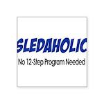 Sledaholic Square Sticker 3