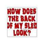 backblack.png Square Sticker 3