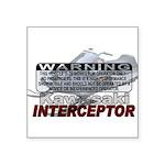 Interceptor Warning II Square Sticker 3
