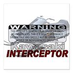 Interceptor Warning II Square Car Magnet 3