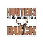 Hunters/Buck Square Sticker 3