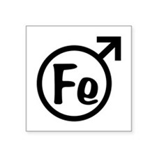 "Fe Man Square Sticker 3"" x 3"""