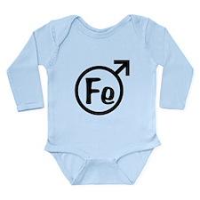 Fe Man Long Sleeve Infant Bodysuit