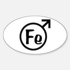 Fe Man Sticker (Oval)
