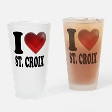 I Heart St. Croix Drinking Glass