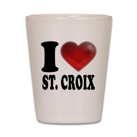 I Heart St. Croix Shot Glass
