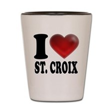 I Heart St. Croix Shot Glass