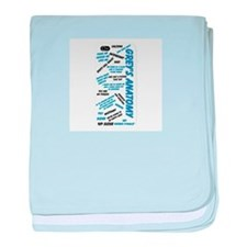 Grey's Anatomy Sayings baby blanket