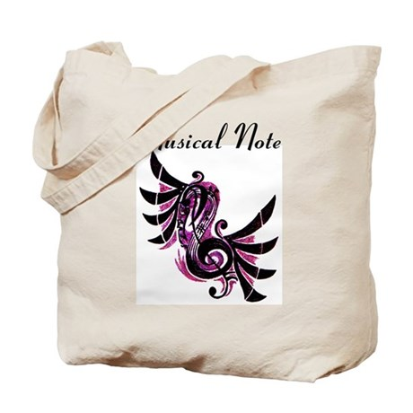 Musical Note Tote Bag