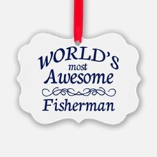 Awesome Fisherman Ornament