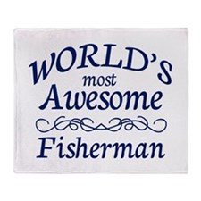 Awesome Fisherman Throw Blanket